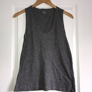 Madewell Whisper Cotton V-neck  Tank Top